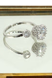 lovely silver mesh crystal ring