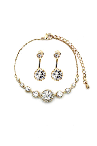 fashion gold hoop bowknot crystal bracelet