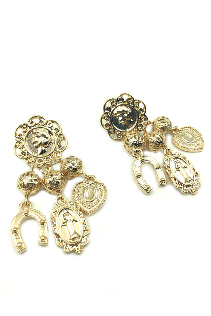Gold Coins Earrings