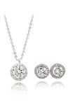 fashion crystal earrings necklace set