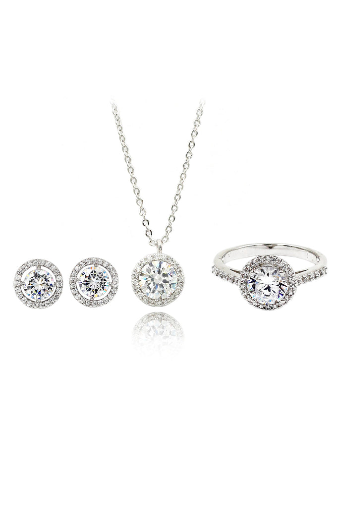 three-piece fashion silver jewelry