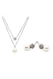 pearl earring necklace set