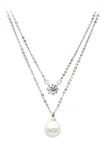 Pearl pendant necklace earring set