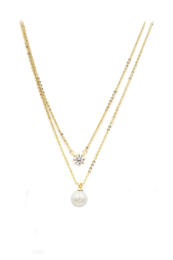 elegant pearl necklace earrings set