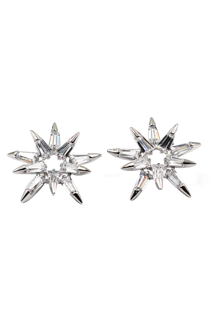fashion picks crystal silver earrings