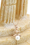 lovely pearl angel necklace