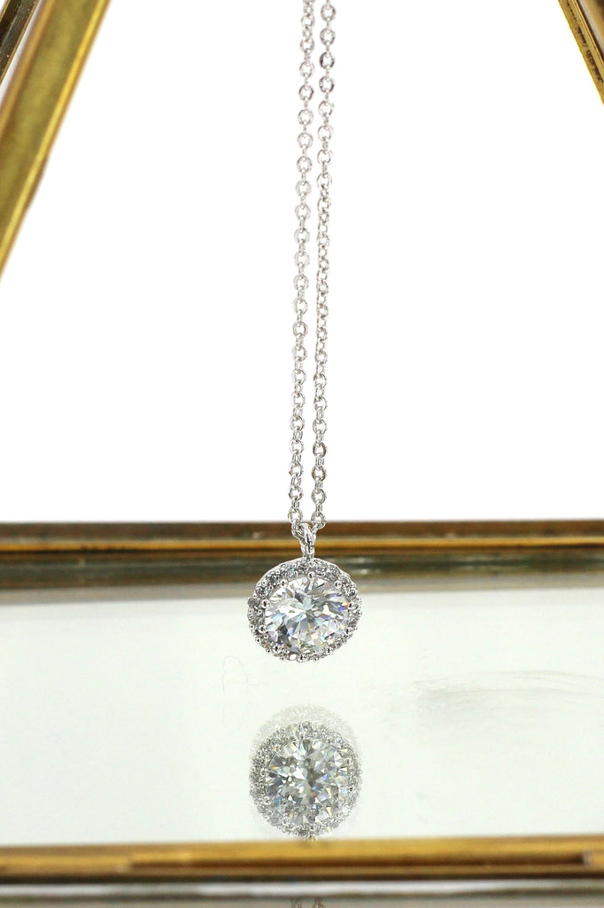fashion small crystal ring necklace set