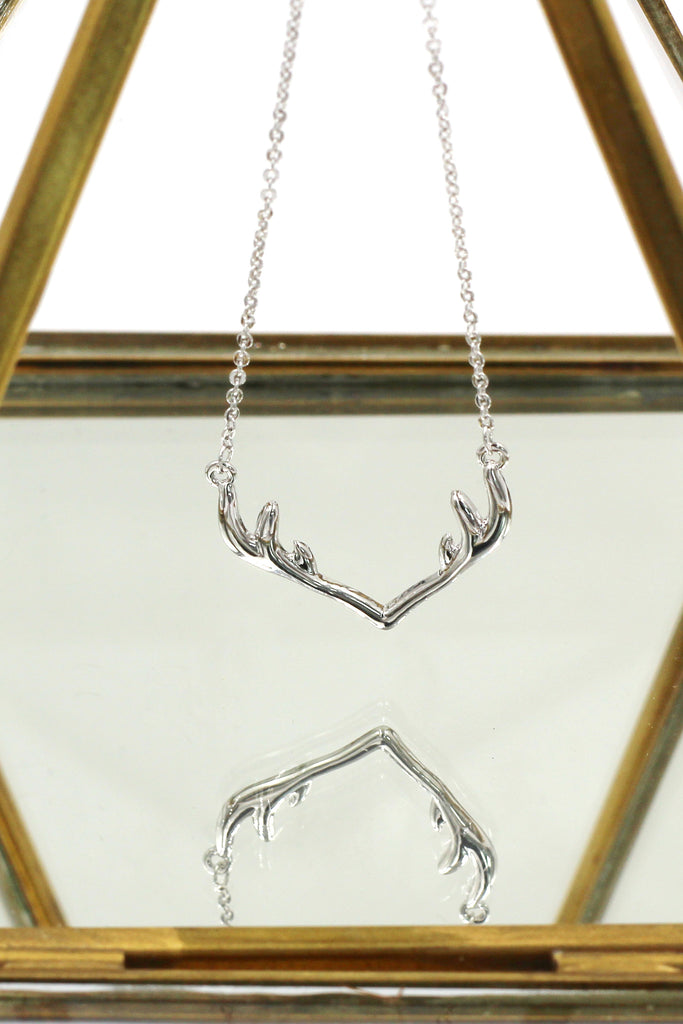 fashion antlers clavicle necklace