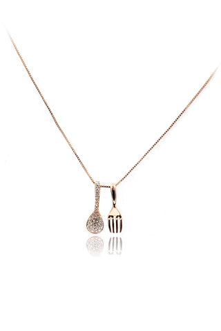 delicate crown pendant necklace