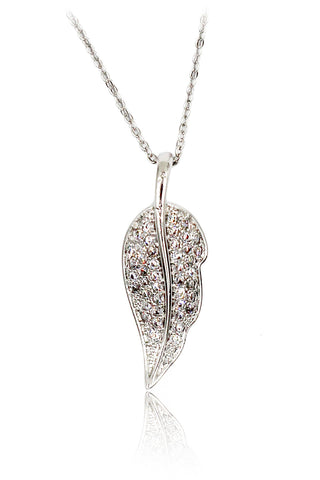 mini anise start crystal silver necklace