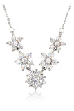 mini crystal flowers clavicle necklace