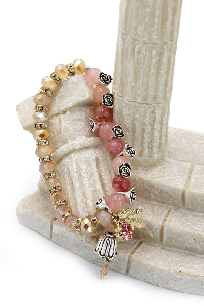 cool beads of rose bracelet