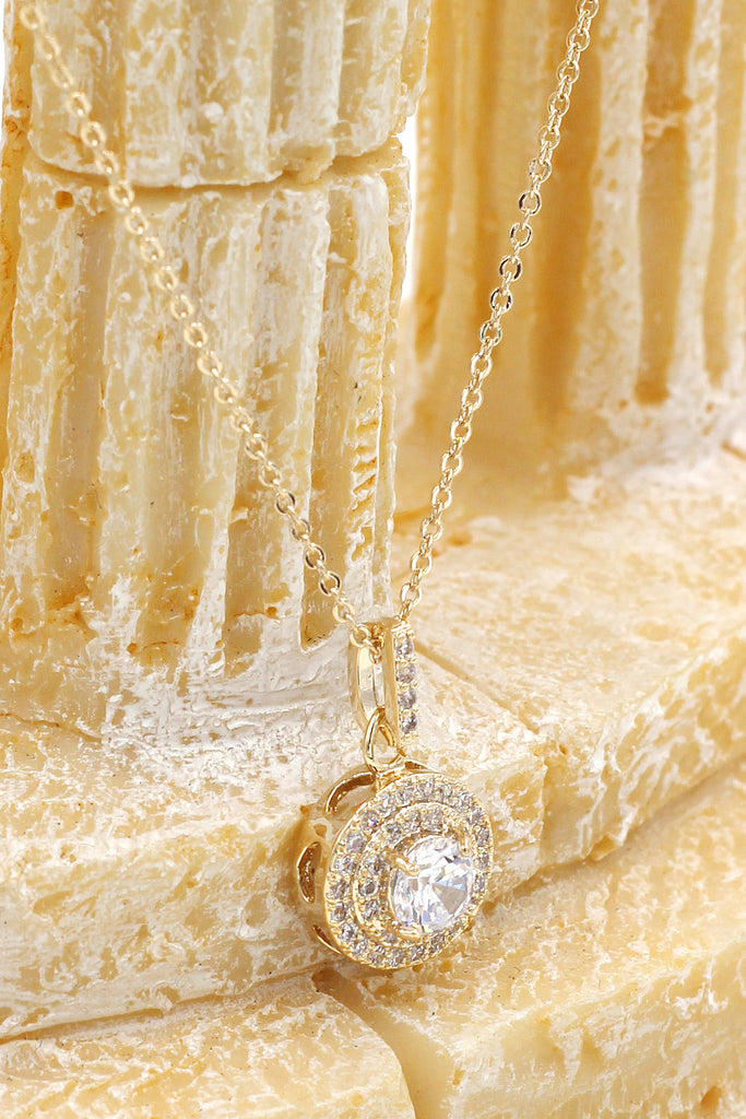shining crystal hollow heart necklace