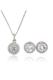 fashion pendant crystal earrings necklace set