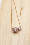 fashion crystal pendant necklace