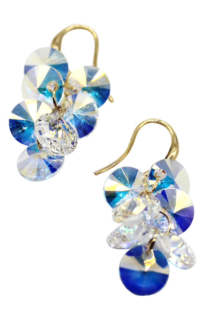sparkling swarovski crystal earrings