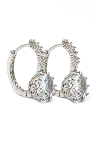 lovely silver line crystal earrings