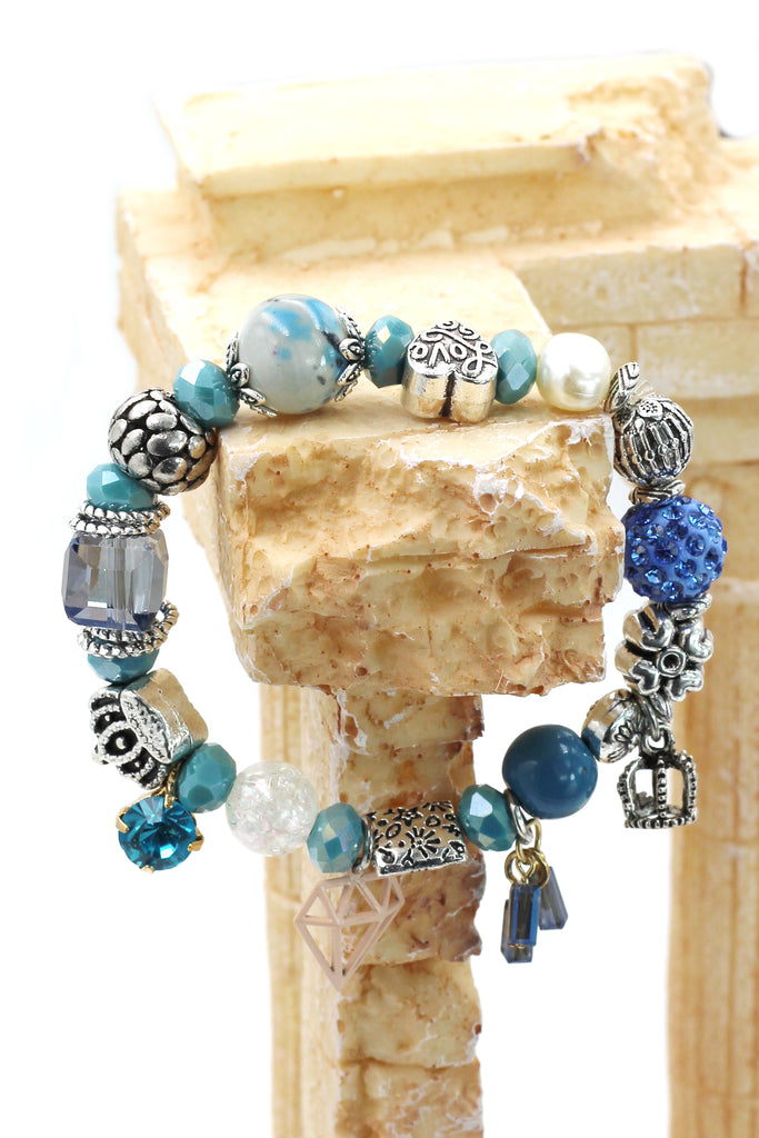 colorful bead diamond shelf bracelet