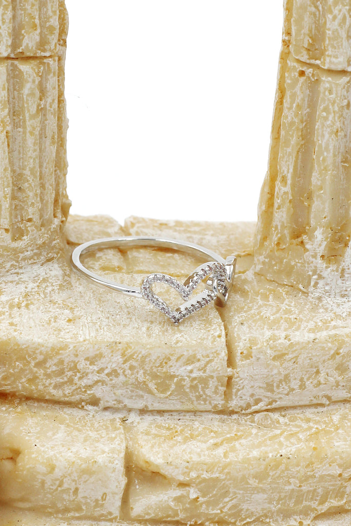 cute little love crystal ring