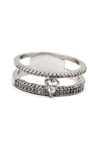 special spider crystal silver ring