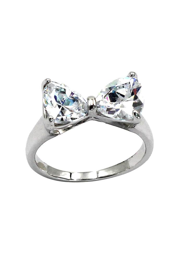 stylish ladies sweet bowknot ring
