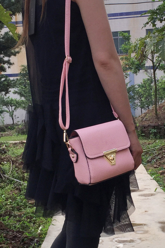Lovely sweet pebble leather handbag