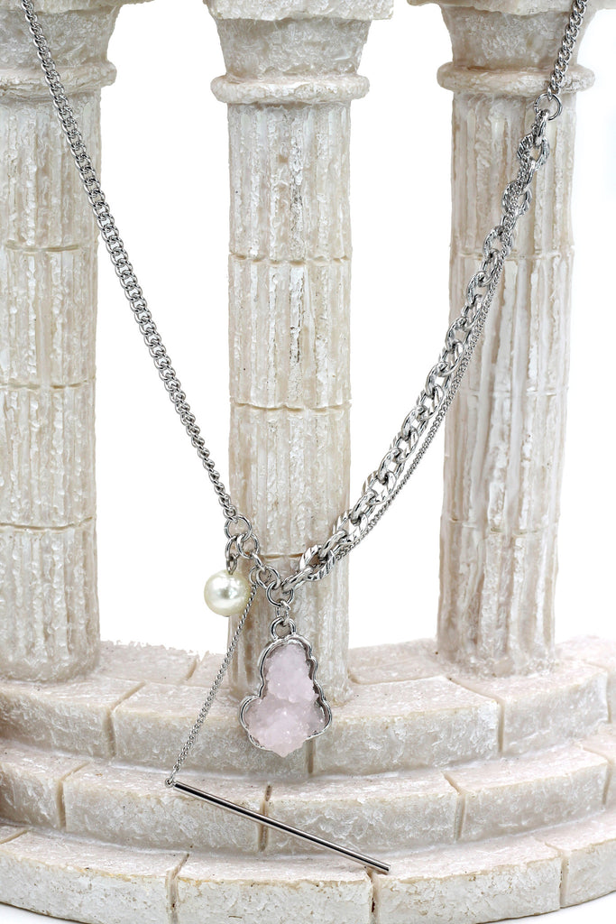 fashion natural crystal necklace