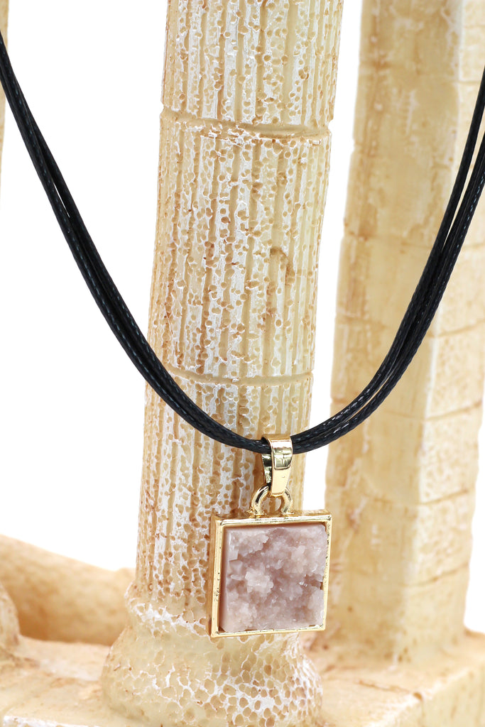 fashion square crystal original necklace