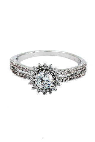 fashion row full crystal ring