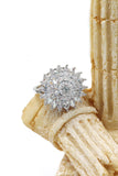 shining bright sunflower crystal ring