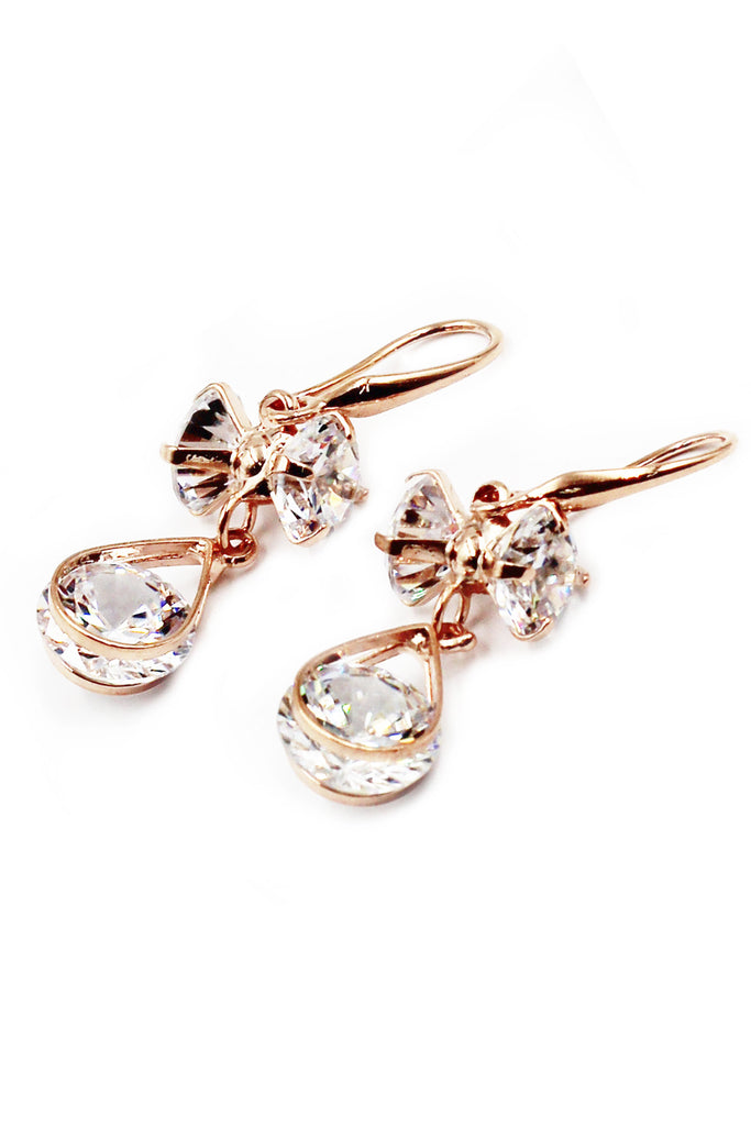 Elegant drum crystal earrings