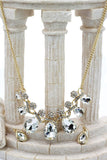 noble cobblestone crystal necklace earrings sets