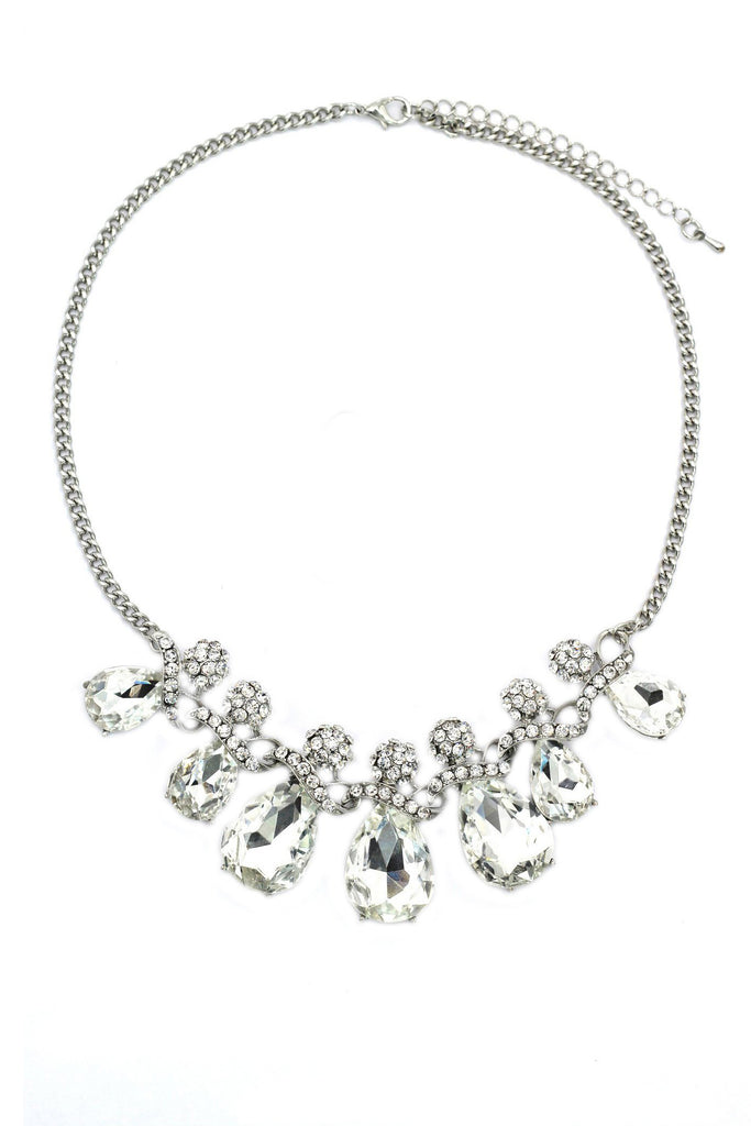 noble cobblestone crystal necklace