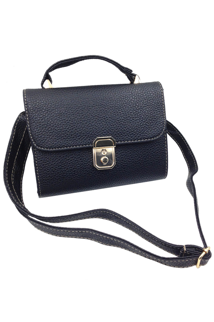 Elegant black small leather bag
