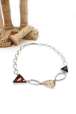 triangle color crystal necklace