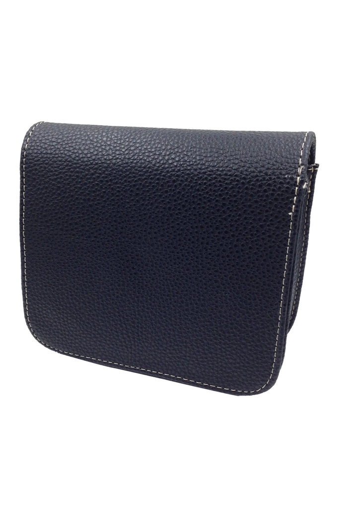 Texture black small leather bag