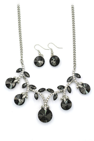 fashion gray eggplant silver necklace