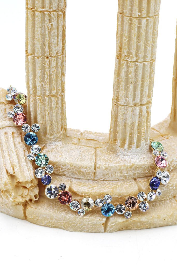 exquisite colorful swarovski crystal bracelet