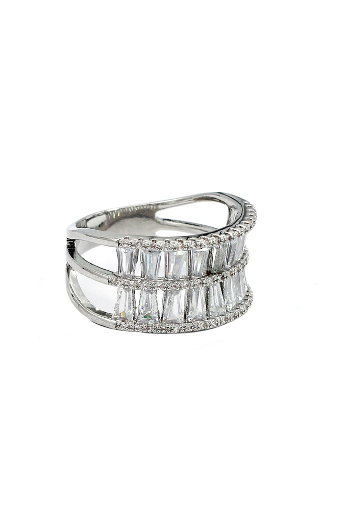 two-tiered crystal ring