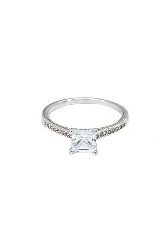 fashion cross double crystal ring