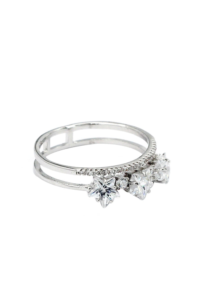 fashion little star crystal ring