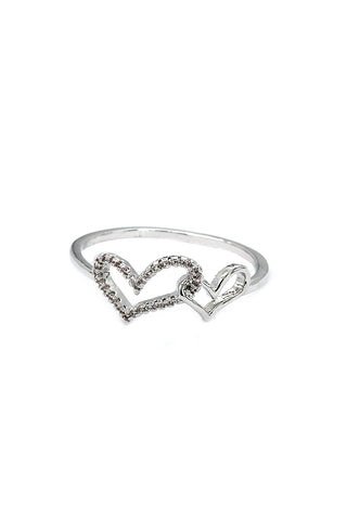 fashion silver crystal ring
