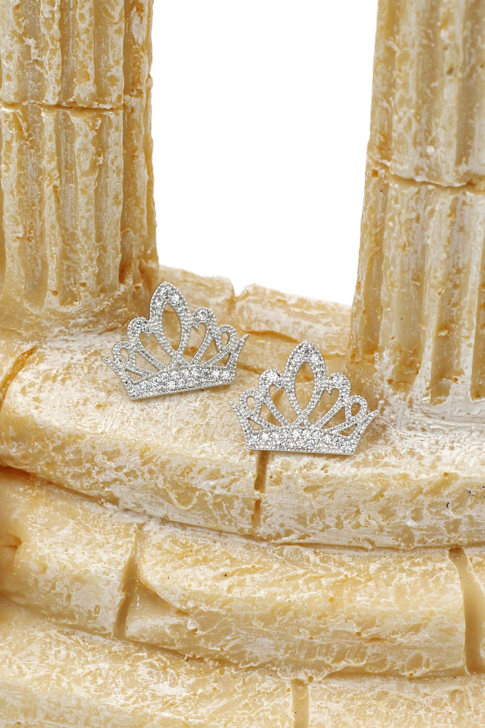 fashion nestle ear crown crystal earrings
