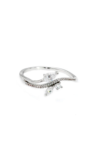 delicate butterfly crystal ring