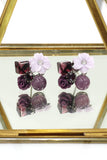 lovely shells flower crystal earrings