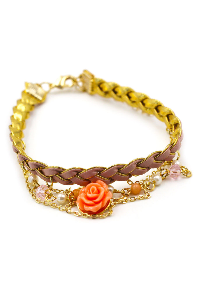 Lovely rose  pink Ankle bracelet