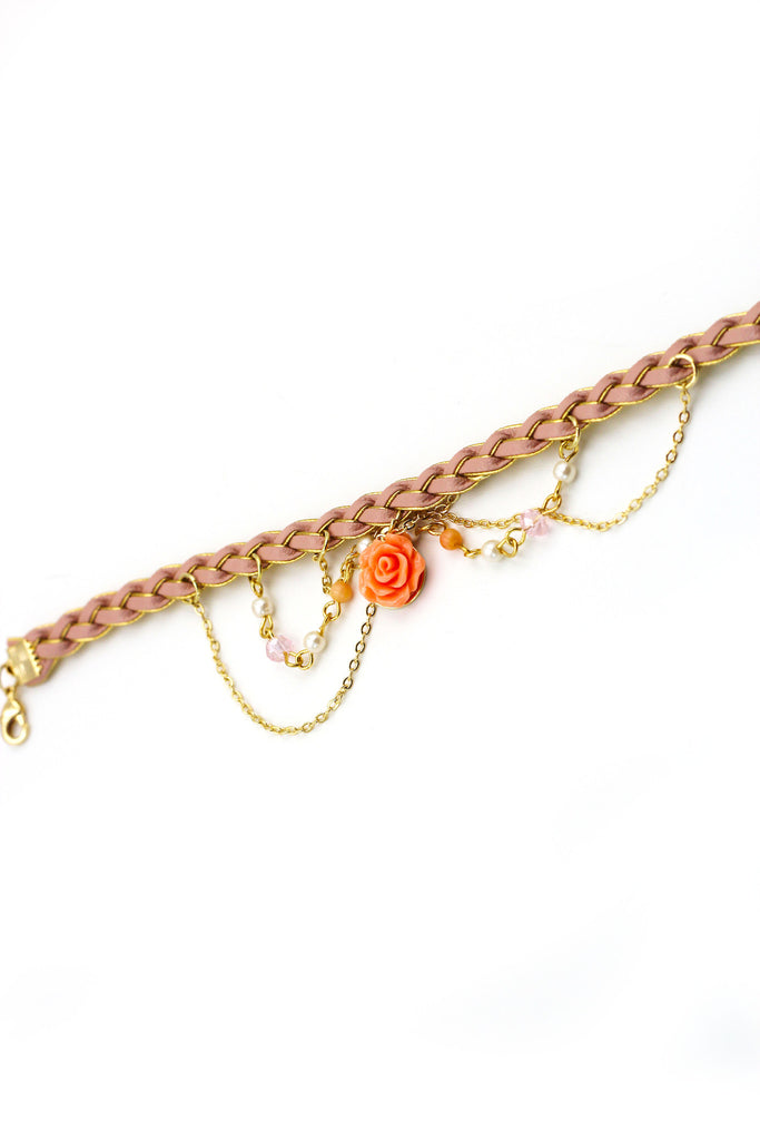 Lovely rose  pink bracelet / Ankle bracelet