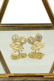 gold pendant owl necklace earrings set