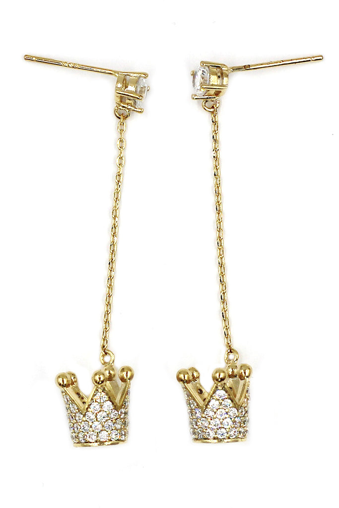 fashion pendant crown small crystal earrings