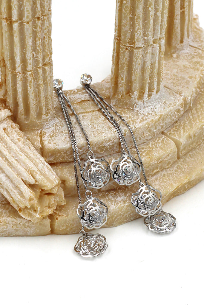 Pendant Rose crystal earrings